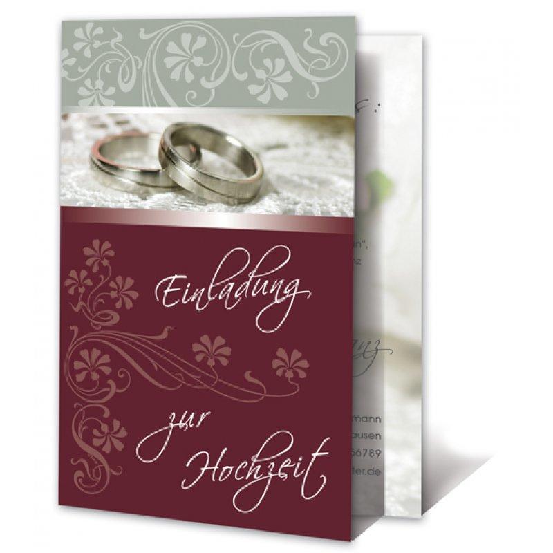Einladungskarte Hochzeit Motiv Grafisch Ringe