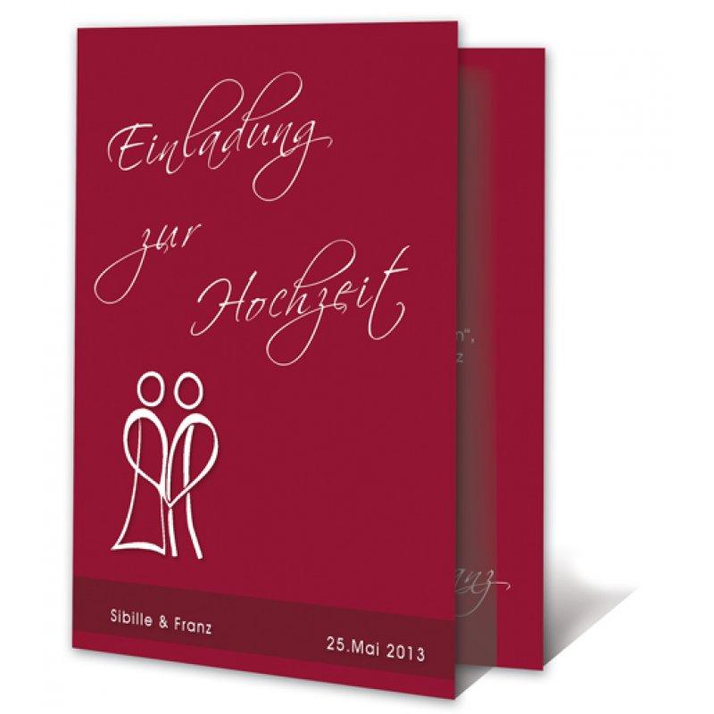 Schön Einladungskarte Hochzeit Motiv Modern Paar Stilistisch, Einladungs