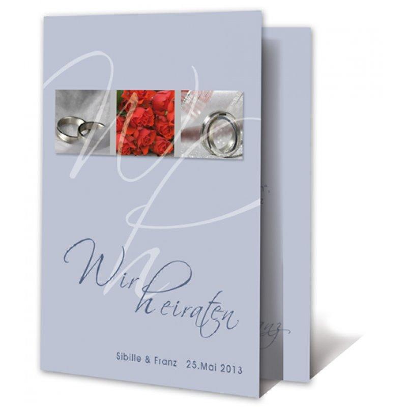 Einladungskarte Hochzeit Motiv Modern Ringe